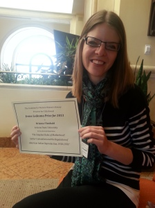 Brianna Theobald, recipient of the 2013 Irene Ledesma Prize, is a Ph.D. Candidate in History at Arizona State University.